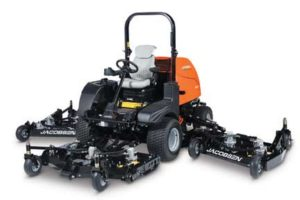 In its 95th year, Jacobsen introduces the HR Series of wide-area rotaries, which includes the HR600, HR700 (pictured here) and HR800. The mowers offer industry leading productivity, serviceability and comfort.
