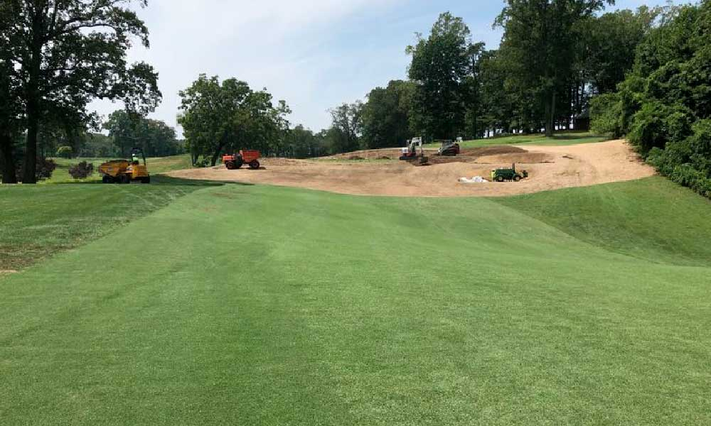 The Naval Academy Golf Club renovations 10th green