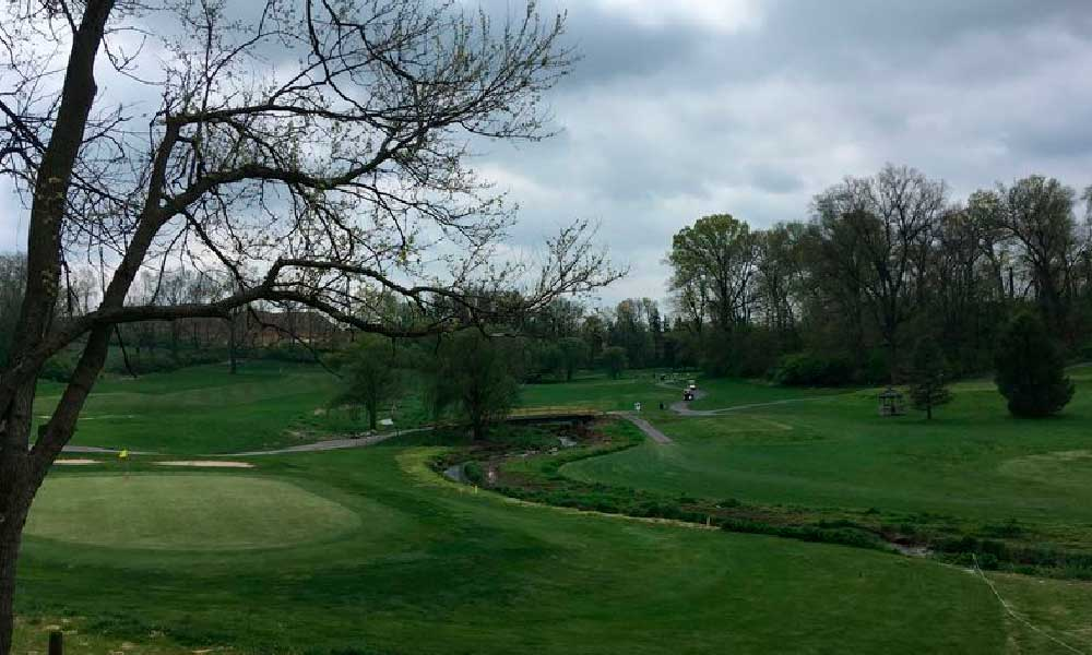 A view from the patio at Willow Brook Golf Course